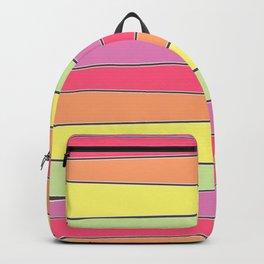 Summer Color Palette Crooked Stripes Backpack
