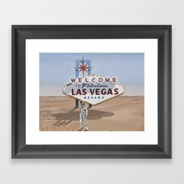 Leaving Las Vegas Framed Art Print