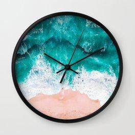 Ocean adventures -drone Wall Clock