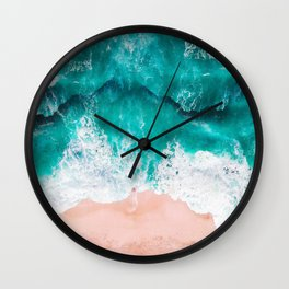 Ocean adventures -drone Wall Clock