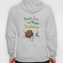 Peace, Love and Vegan Doughnuts. Hoody