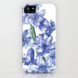 HIGHEST QUALITY botanical poster of Hyacinth iPhone Case