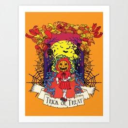 Jack o Red Riding Hood Art Print