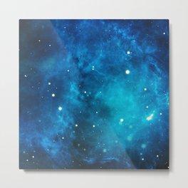Galaxy sky space nebula stars universe cosmos Metal Print