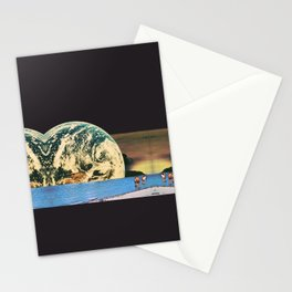 Distant beach Stationery Cards