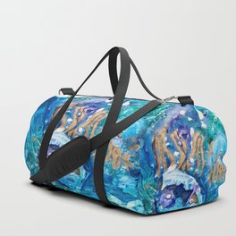 Golden Jellyfish Duffle Bag