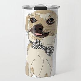 Chihuahua with Bow Tie Travel Mug