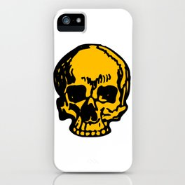 24K Gold Pirate Skull, Vibrant Skull, Super Smooth Super Sharp 9000px x 11250px PNG iPhone Case