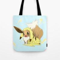 eevee Tote Bags featuring Eevee-licious! by EeekGirl