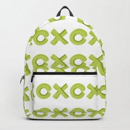 XoXo Pattern Brush Graphic Artwork Greenery Love Backpack