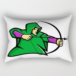 Medieval Archer Mascot Rectangular Pillow