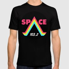 Space 103.2 Mens Fitted Tee MEDIUM Black