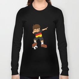 Germany Soccer Ball Dabbing Kid German Football 2018 Long Sleeve T-shirt