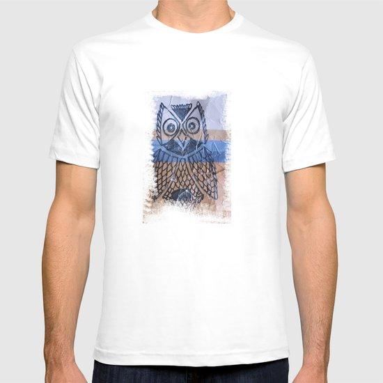 orange owl T-shirt