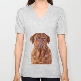 Drawing dog portrait Dogue de Bordeaux Unisex V-Neck