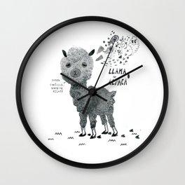 llama or alpaca Wall Clock
