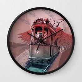 Winged Tram Wall Clock