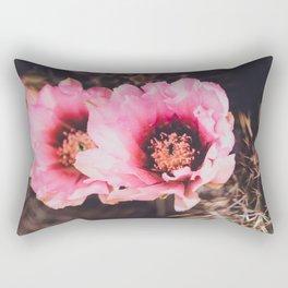 Faded Desert Blooms Rectangular Pillow