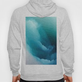"""Inner Calm"" Turquoise Modern Contemporary Abstract Hoody"