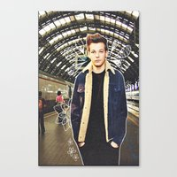 louis Canvas Prints featuring Louis by Claudia