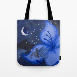 Blue Night Fairy Tote Bag
