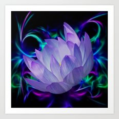 Lotus flower bloom  Art Print