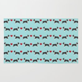 Bull Terrier hearts love dog breed pet friendly gifts terriers bull terriers Rug