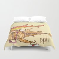 nurse Duvet Covers featuring Nurse Sharks by Ryan van Gogh