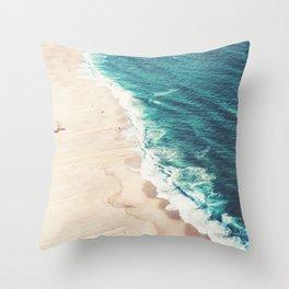 Beach Nazare Throw Pillow