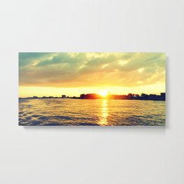 Sunset watEr :Houses Off the River Metal Print