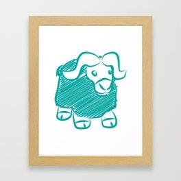 Ox Framed Art Print