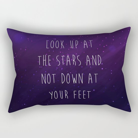Look Up At The Stars Motivational Quote Rectangular Pillow