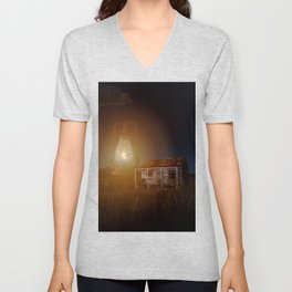 The hut in the meadow by GEN Z Unisex V-Neck