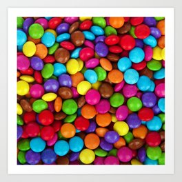 Candy Coated Chocolate Art Print