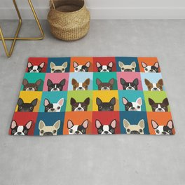Boston Terrier Pop Art Pattern Rug