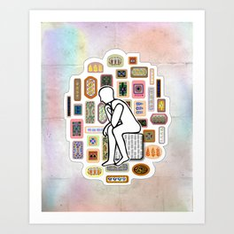 Thinking Man Art Print