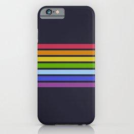 Sunuma - Rainbow 70s Vintage Style Retro Summer Stripes iPhone Case
