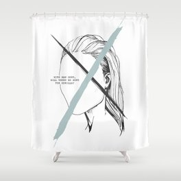 With Man Gone Shower Curtain