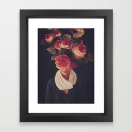 The smile of Roses Framed Art Print