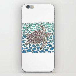 Vanishing Sea Turtle by Black Dwarf Designs iPhone Skin