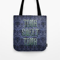 haunted mansion Tote Bags featuring Haunted Mansion - Tomb Sweet Tomb by Brianna