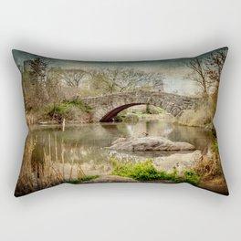 Central Park Bridge Rectangular Pillow