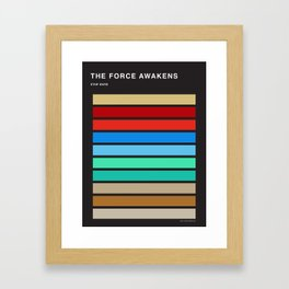 The colors of StarWars - The Force Awakens episode 7 Framed Art Print