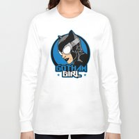 gotham Long Sleeve T-shirts featuring Gotham Girl by Buby87
