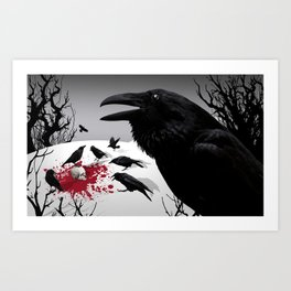 """Murder!"" She Crowed (Gray) Art Print"
