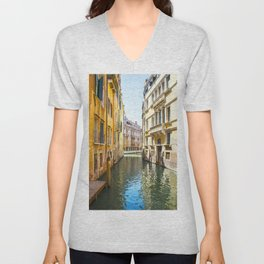 A Gondola Ride through Venice Unisex V-Neck