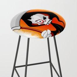 Grim Reaper Creepy Cartoon Character Bar Stool