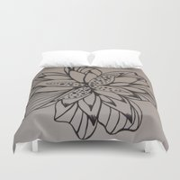 alone Duvet Covers featuring Alone by fawnadine