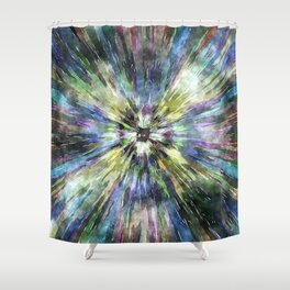 Colorful Watercolor Tie Dye Shower Curtain