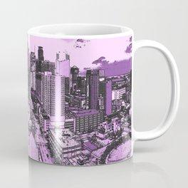 Purple Rains of Minneapolis, Minnesota Skyline Coffee Mug